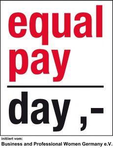 Preisschild statt Zahlen equal pay day